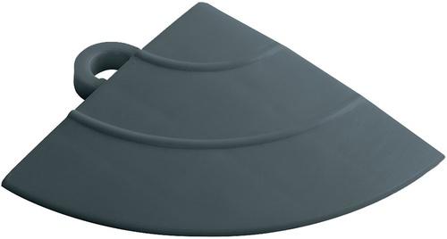 """12"""" Corner Flooring Tile - Slate Grey (4pk)"""