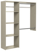 3' to 5' Deluxe Closet Kit - Weathered Grey