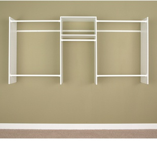 4' to 8' Basic Starter Closet - White