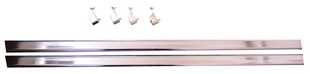 "35"" Wardrobe Rods/Ends - Chrome (2 pack)"