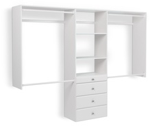 4' to 8' Deluxe Closet - White