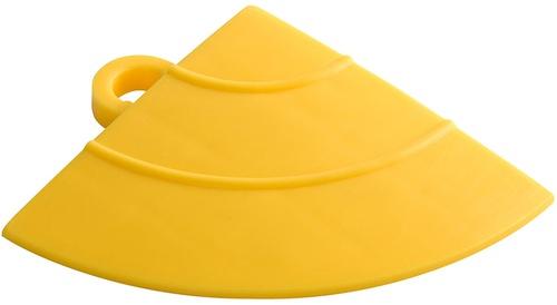 "12"" Corner Flooring Tile - Citrus Yellow (4pk)"