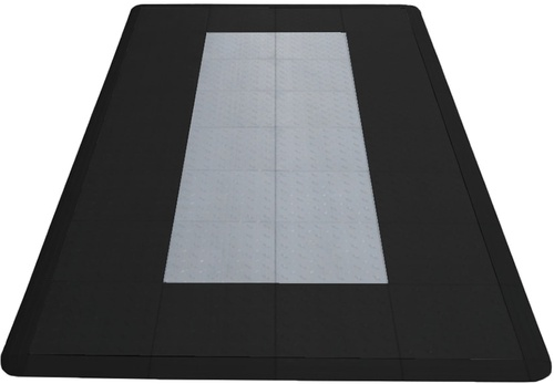 8'x4' Motorcycle Parking Mat  - Jet Black and Slate Grey