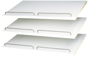 "24"" Shoe Shelves - White (3 pack)"