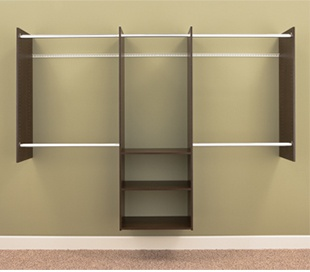 4' to 8' Deluxe Starter Closet - Truffle