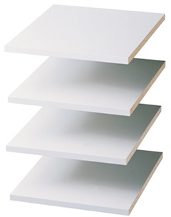 "12"" Shelves - White (4 pack)"