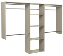 4' to 8' Basic Closet - Weathered Grey
