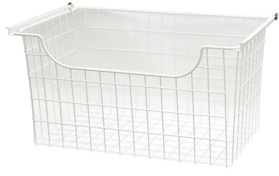 "12"" Wire Basket - White"