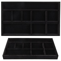Jewelry Tray 14d x 24w Black Velvet