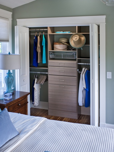 Reach-In Closet with Drawers
