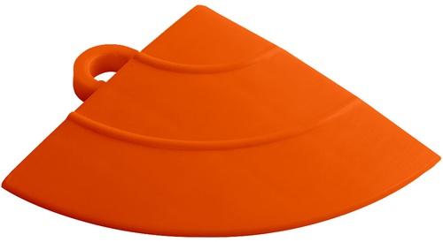 "12"" Corner Flooring Tile - Tropical Orange (4pk)"