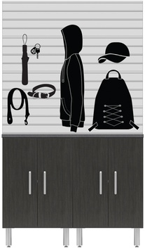 "48"" Wide 3-Piece + Slatwall Garage Package"