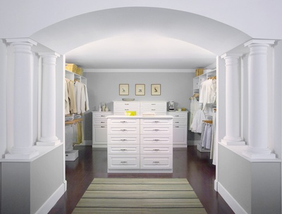 His & Her Walk-In Closet with Island
