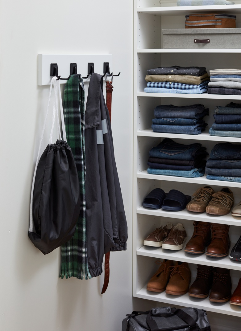 Narrow Walk-In Closet for Him