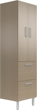 """24"""" Wide Tall Cabinet with Doors/2 Drawers"""
