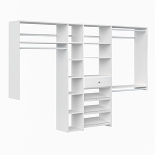 Shoe Storage Closet Kit - White