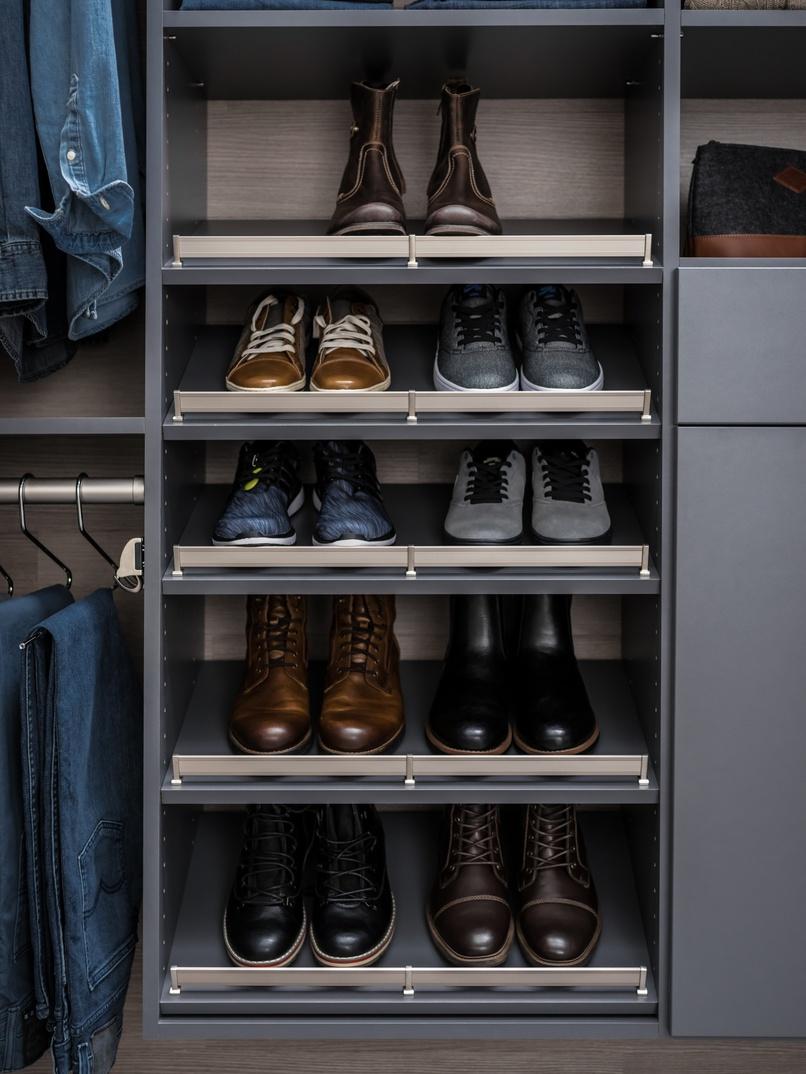 Slanted Shoe Shelves Slanted Shoe Shelves