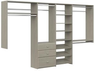 Dual Tower Closet Kit - Weathered Grey