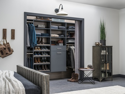 Man's Upscale Reach-In Closet