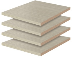 """12"""" Shelves - Weathered Grey (4 pack)"""