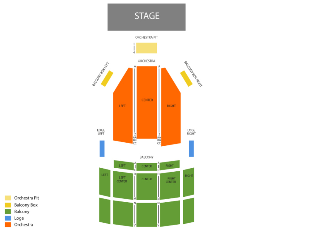 Pensacola Opera - Man of La Mancha Venue Map