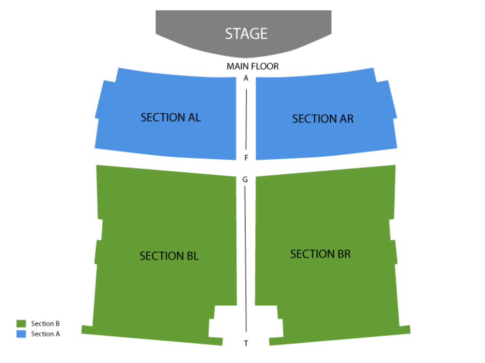 Gordie Brown (Reduced Capacity, Social Distancing) Venue Map