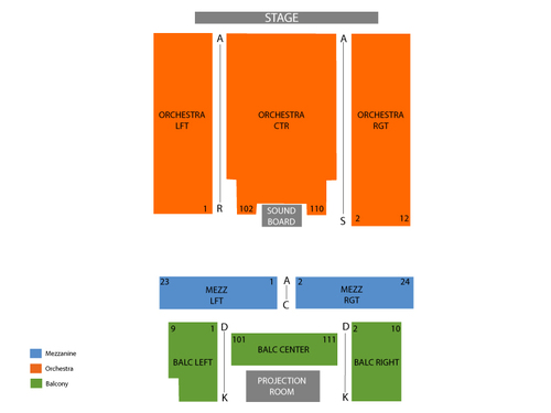 Ridgefield Playhouse Seating Chart