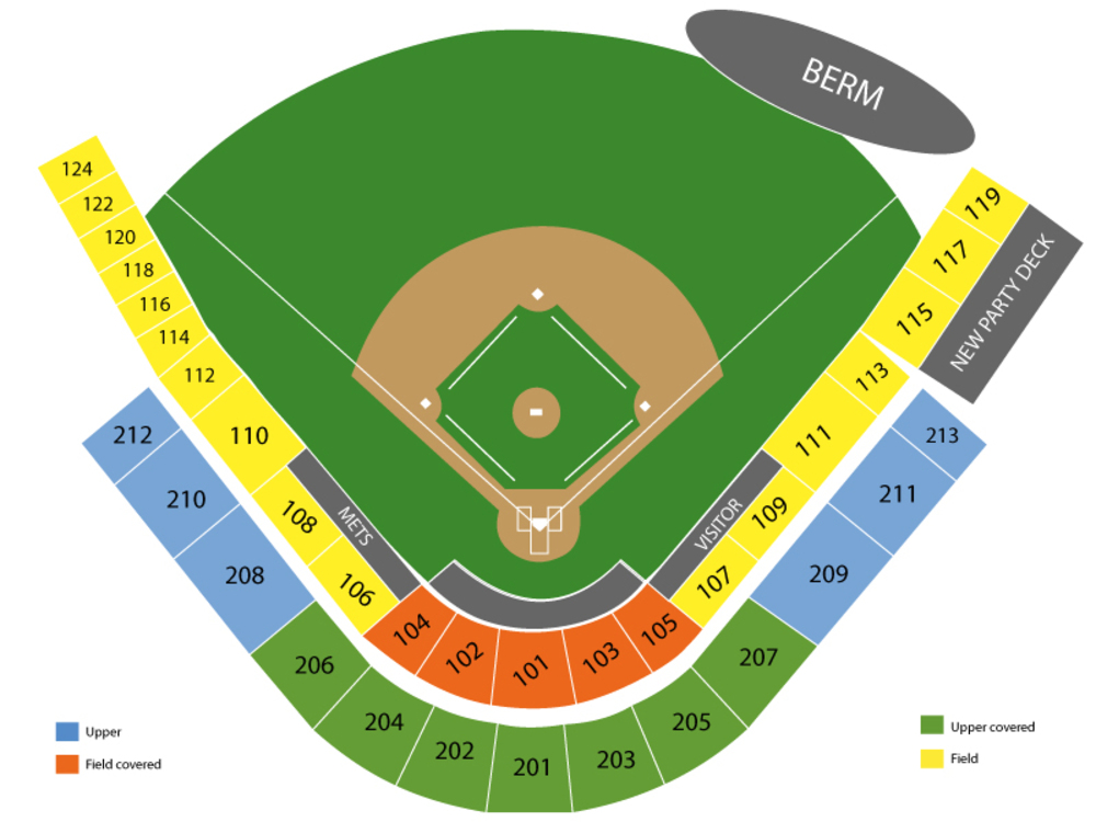 Seating Chart for Baseball Seating Chart at Digital Domain Park
