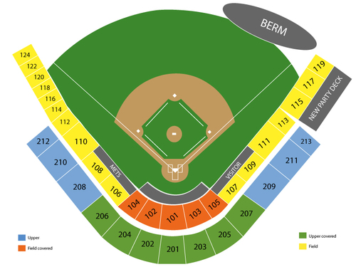 Spring Training: Washington Nationals at New York Mets Venue Map