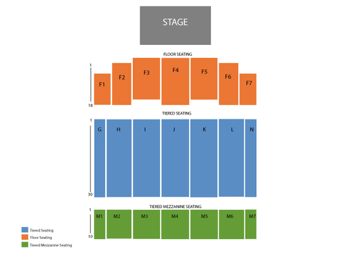 The Colosseum at Caesars Windsor Seating Chart