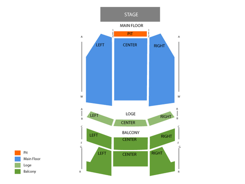 Pantages Theatre - Minnesota Seating Chart