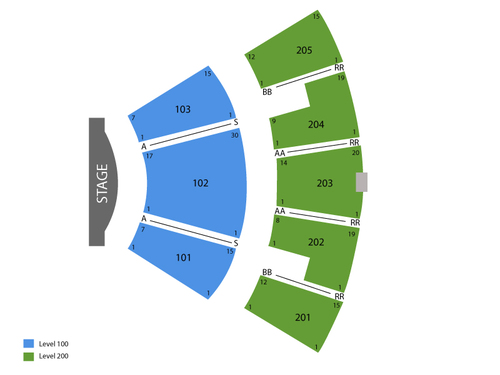 Mandalay Bay Theatre Seating Chart