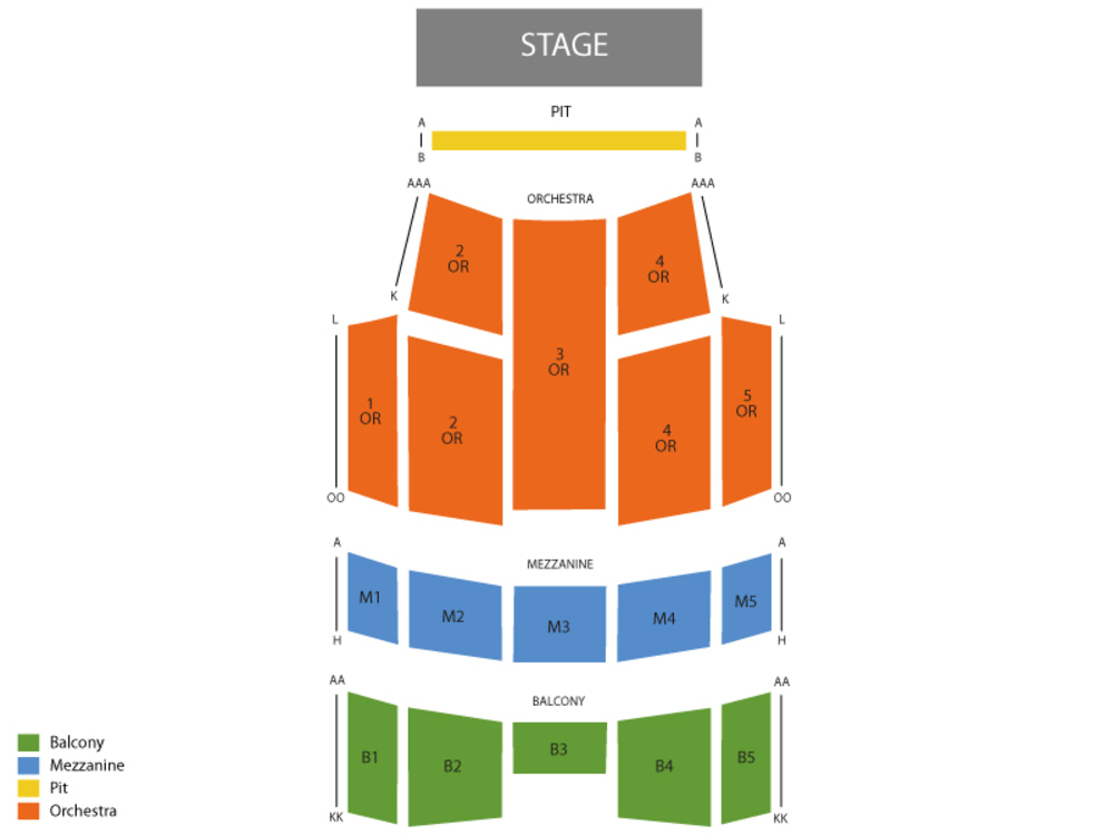 The Piano Guys Venue Map