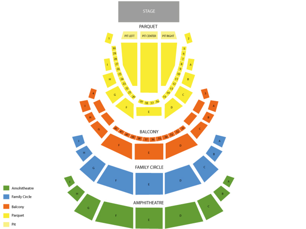 Pennsylvania Ballet: Swan Lake Venue Map