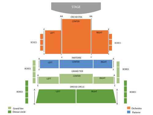 Ferguson Center for the Arts Concert Hall Seating Chart