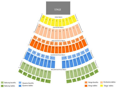 Turning Stone Casino Seating Chart