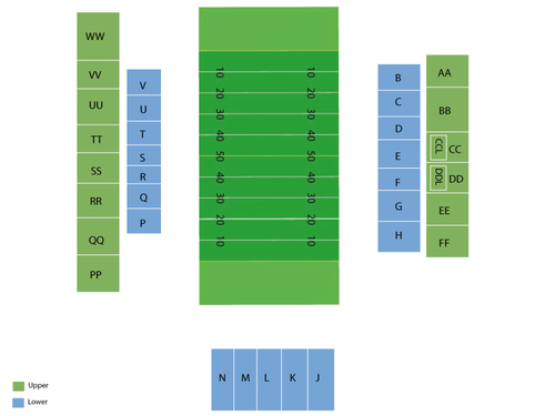 Centennial Bank Stadium Seating Chart