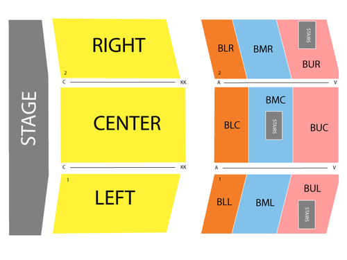 Bob Hope Theatre Seating Chart