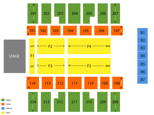 Swiftel Center Seating Chart