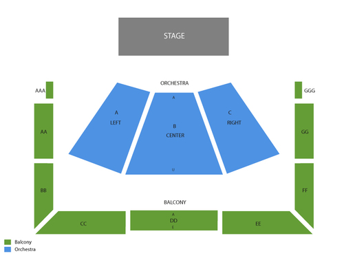 Wells Fargo Center for the Arts - Ruth Finley Person Theater Seating Chart