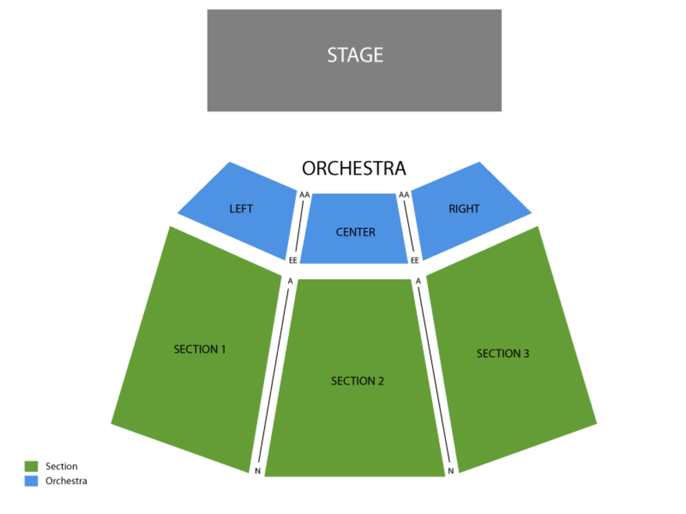 Mary Poppins Venue Map