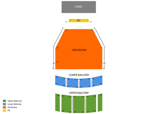 Tucson Music Hall Seating Chart