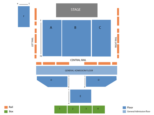 Palladium Ballroom Seating Chart