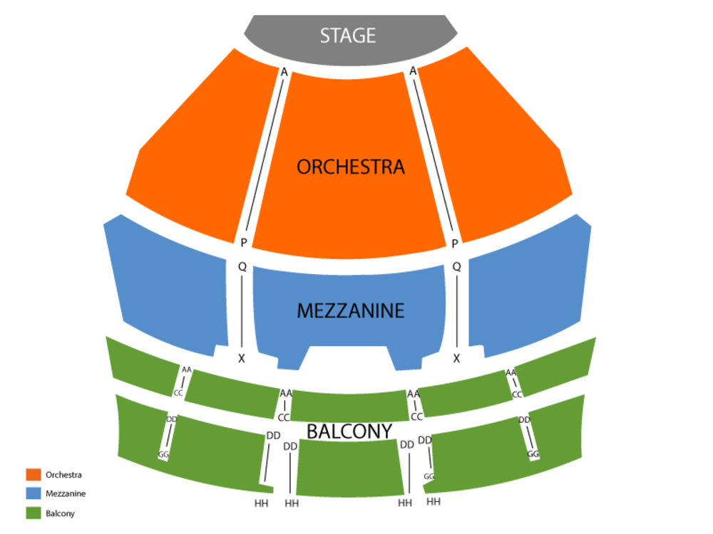 Seating Chart for Full House Seating Chart at American Music Theatre - Lancaster