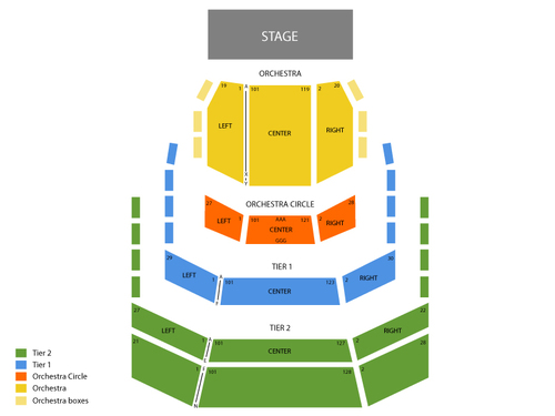 Holland Performing Arts Center Seating Chart