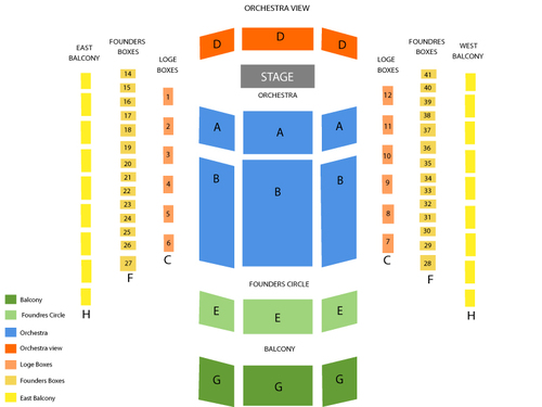 Steve Martin and The Steep Canyon Rangers Venue Map