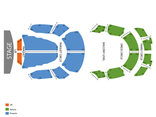 Grand Opera House Seating Chart