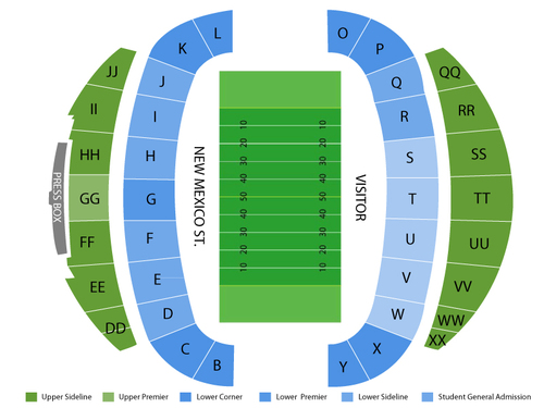 NMSU Aggie Memorial Stadium Seating Chart