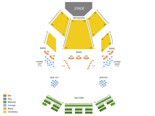 The Hanna Theatre - Playhouse Square Center Seating Chart