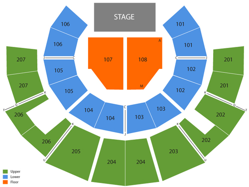 Beau Rivage Theatre Seating Chart